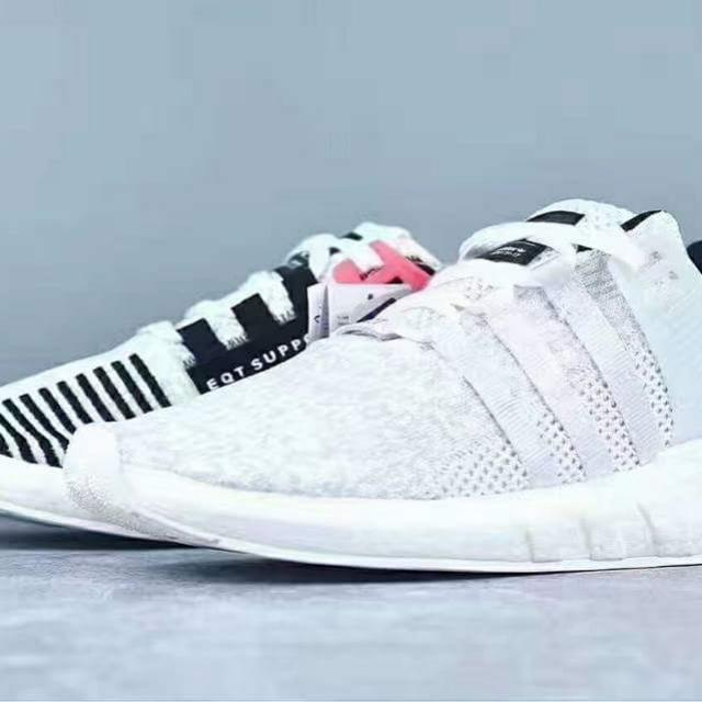 a489b2c39080 Adidas EQT Support 93 17 Boost White Turbo Red