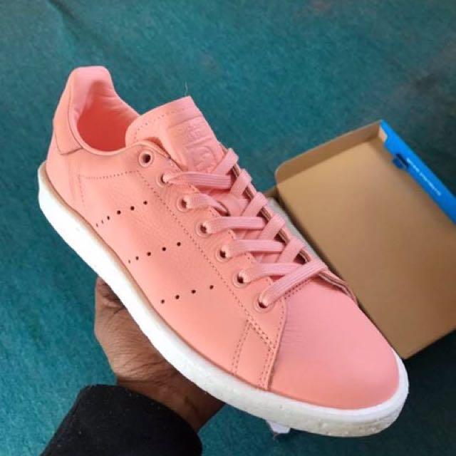 "ADIDAS Stan Smith ""Baby Pink/Coral"" boost SIZE 9 DS"