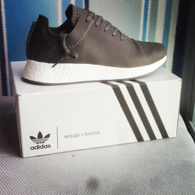 d431353d6 adidas x Wings+Horns NMD R2 Ash (Leather)