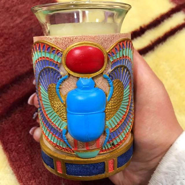 Ancient Egypt Scarab Votive Candle