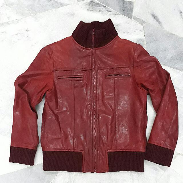 Authentic Calf Leather Bomber Jacket