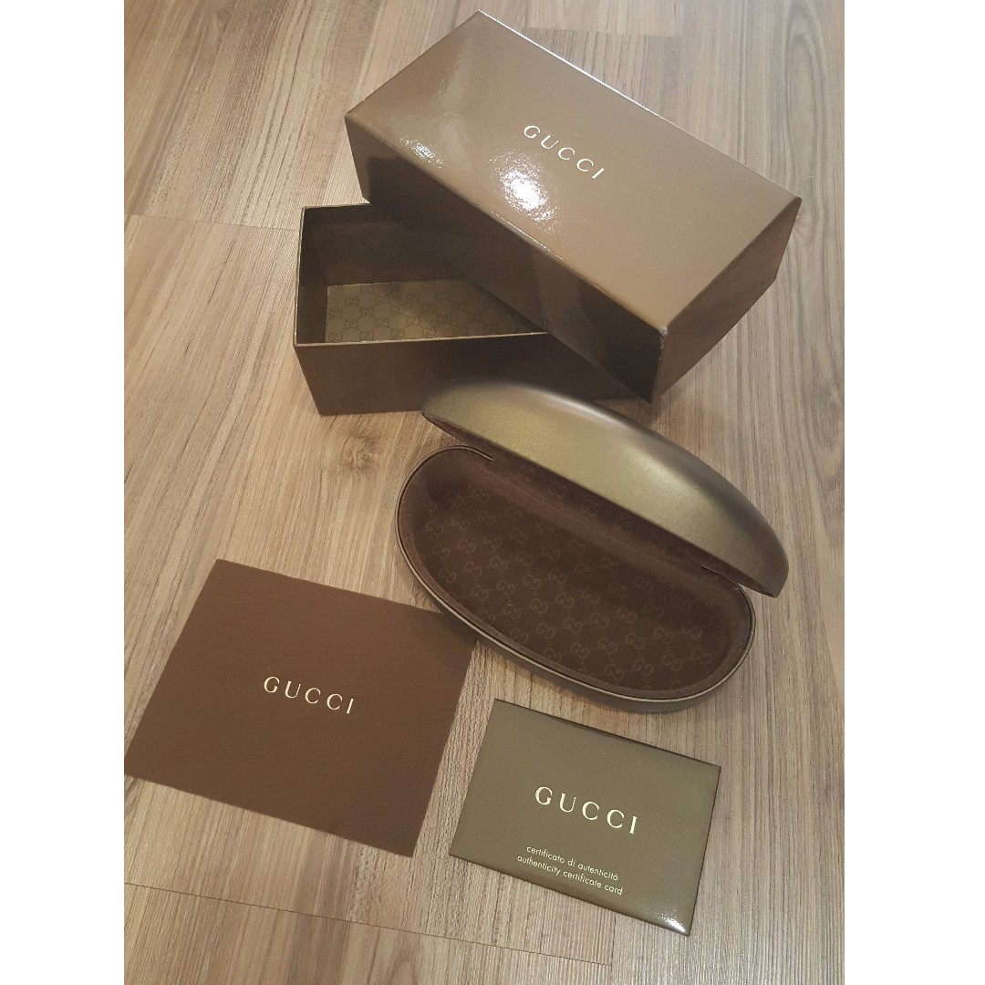 9a100920844 Authentic Gucci Sunglasses Casing and Box comes with authentication card,  Luxury, Accessories on Carousell