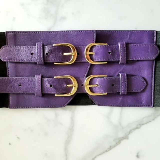 Bebe Purple And Black Belt XS