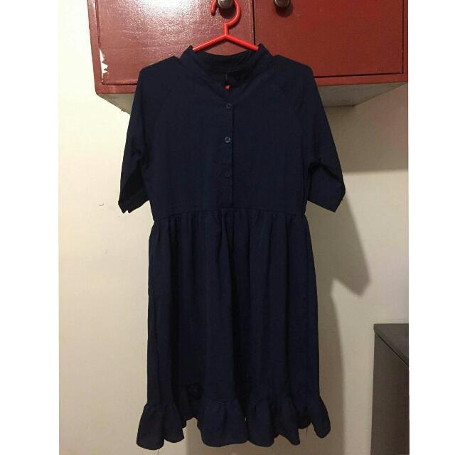 (REPRICED) Blue Button-up Dress