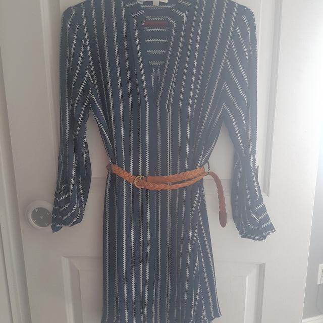 Blue Striped Dress Size Small