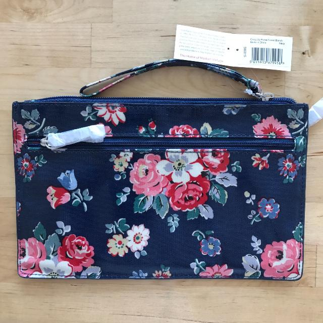 BNWT Cath Kidston Forest Brunch Currency Zip Purse (Navy)