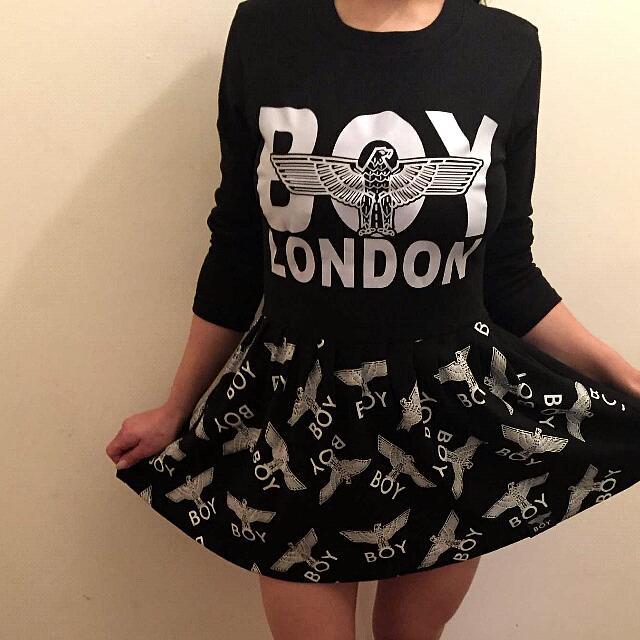 BOY LONDON skater Style Sweater Dress