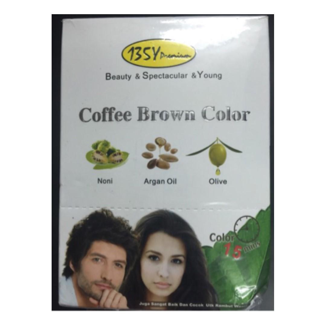 Bsy Premium Coffee Brown Color Shampoo Cat Semir Rambut Sachet 25 Ml Sisir Health Beauty Hair Care On Carousell