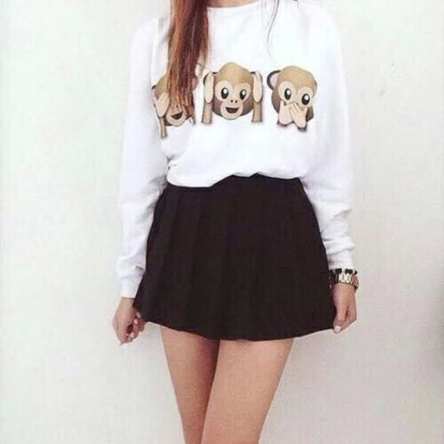 Cartoon Monkeys Sweatshirt