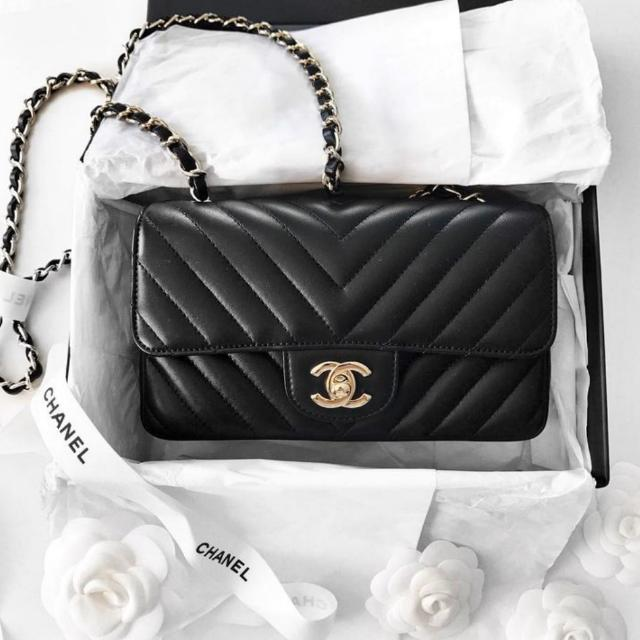 44ade27a24ff55 Chanel Mini Rectangular Chevron, Luxury, Bags & Wallets on Carousell