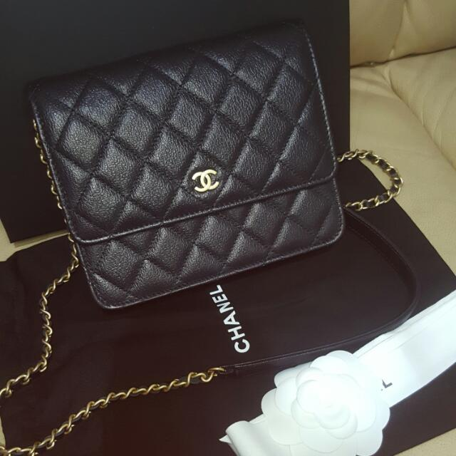 666e755b4dba 全新💕Chanel Square 17cm WOC, Luxury on Carousell