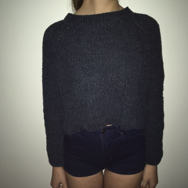 Cropped Navy Jumper