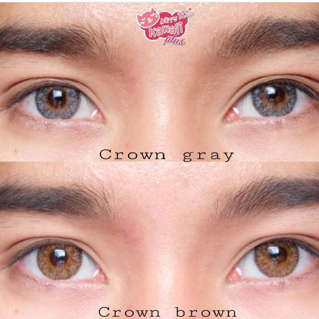 Crown Gray And Brown Contact Lens