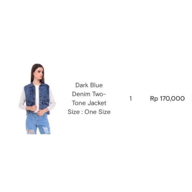 👚Dark Blue Denim Two Tone Jacket 👚