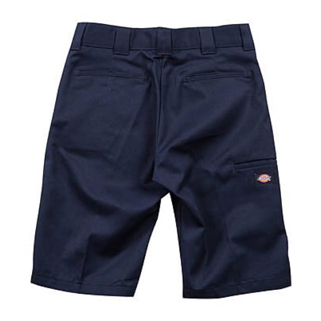 【Dickies】WR640 DN 硬挺布料 工作過膝短褲 藍色 32腰