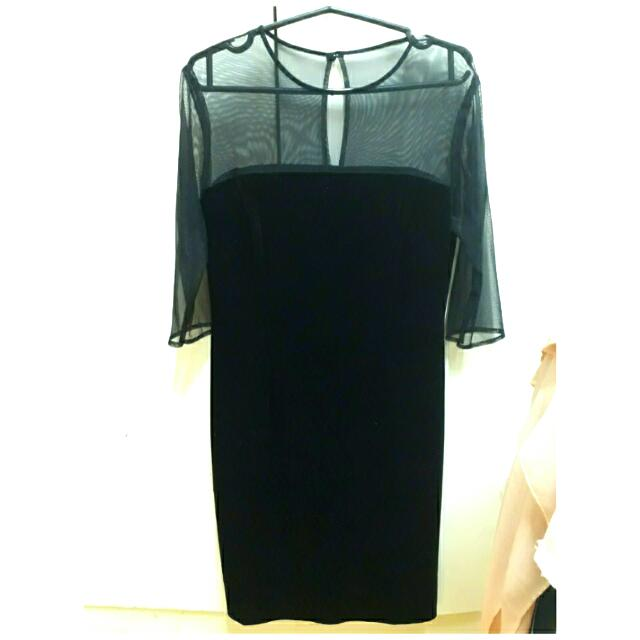 *Repriced* Elegant Black Mesh Dress