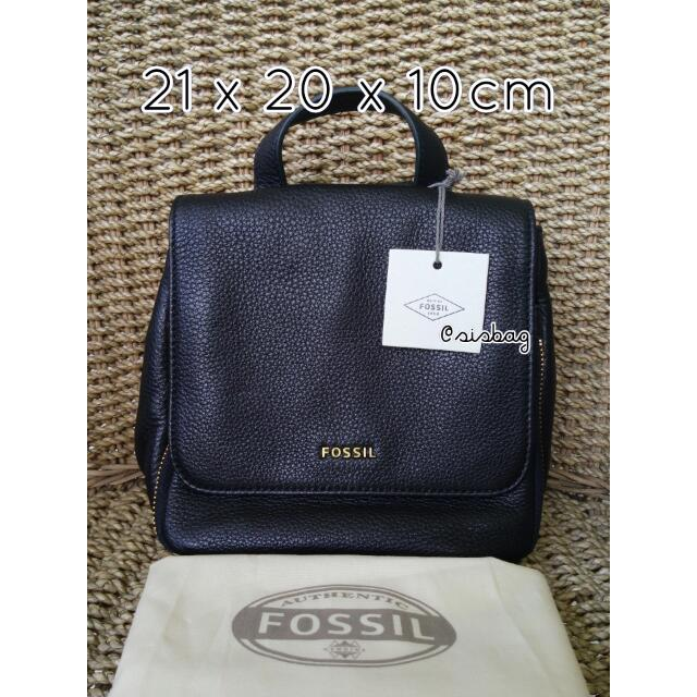 NEW Fossil Preston Backpack Small Black