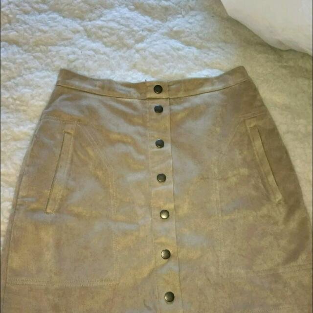 French connection Suede Skirt Size 8