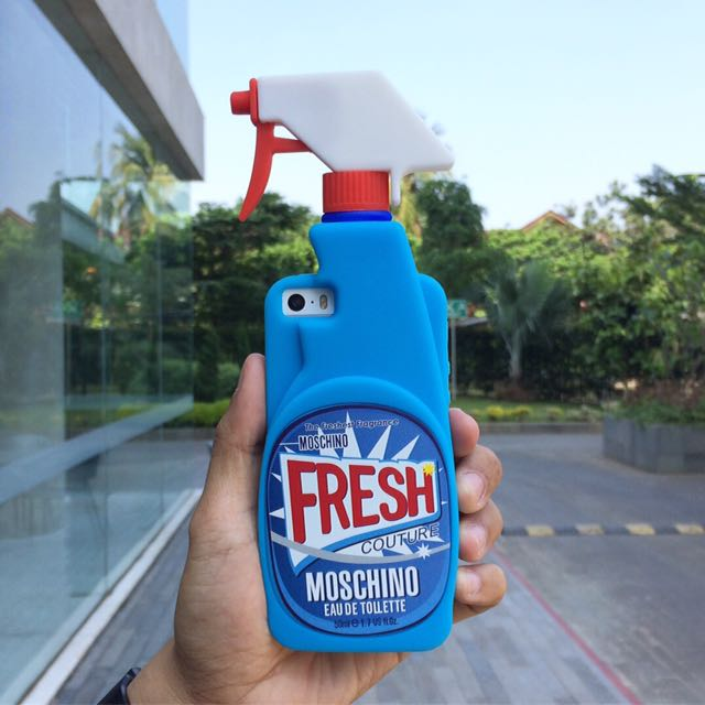 half off 7db6d 20c15 Fresh Case Bottle Spray Moschino For iPhone Softcase