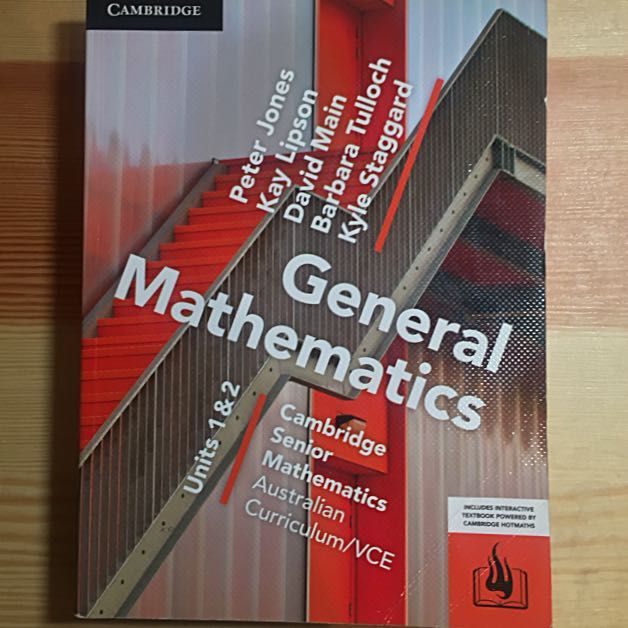 General Maths Unit 1/2 VCE Textbook Cambridge 2017