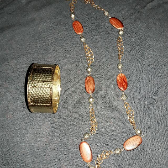 💕gold Bracelet&necklace💕