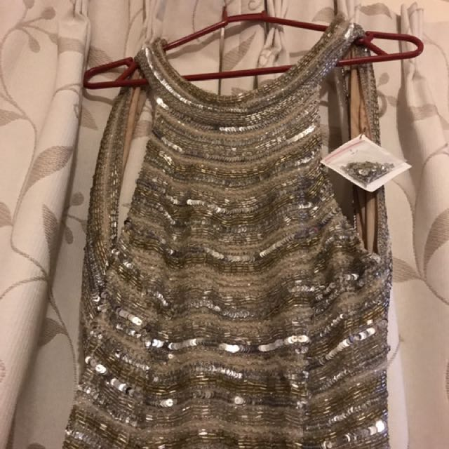 Gold Shinny Ball Dress