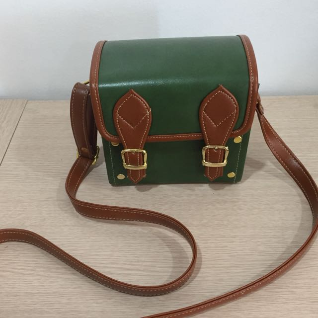 Green Shoulder Box Bag