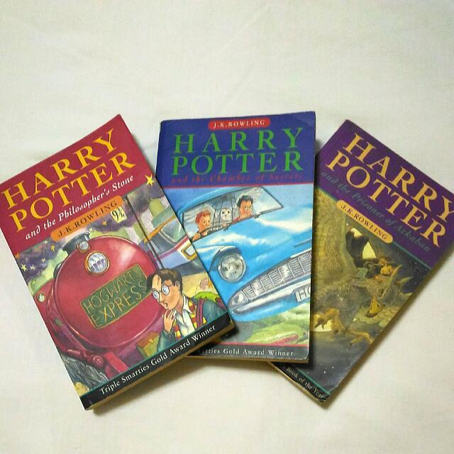 Harry Potter Bloomsbury Books 1-3