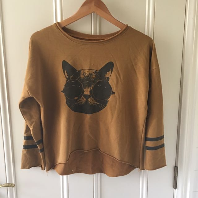 Hipster Cat Sweater