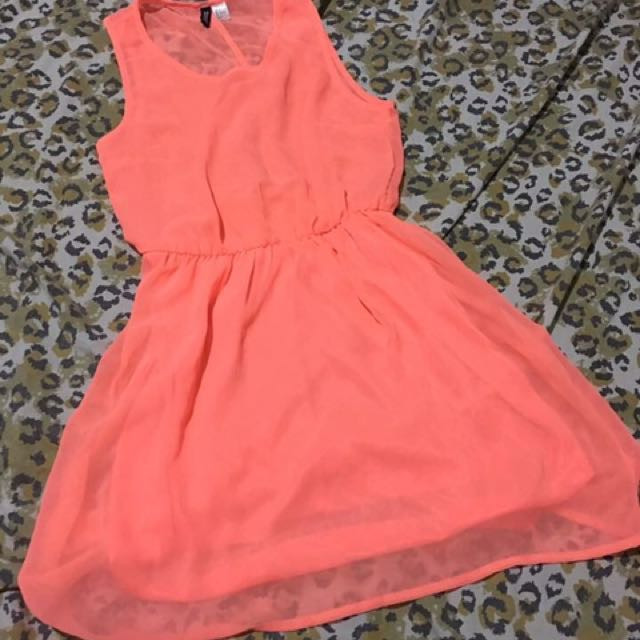 H&M Neon Dress Small