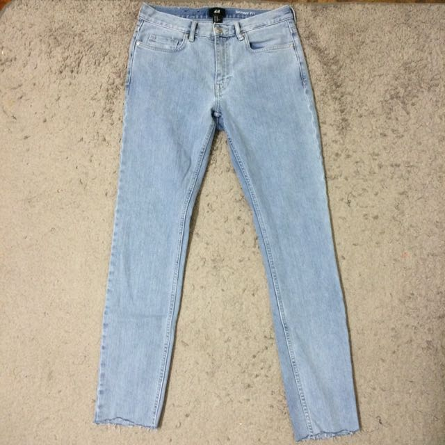 0a1306a642 H&M Skinny Jeans Light Blue, Men's Fashion, Clothes on Carousell