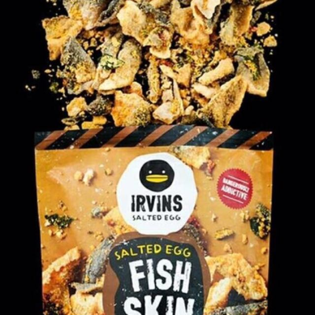 Irvins Salted Egg Fish Skin And Potato Chips 105gr