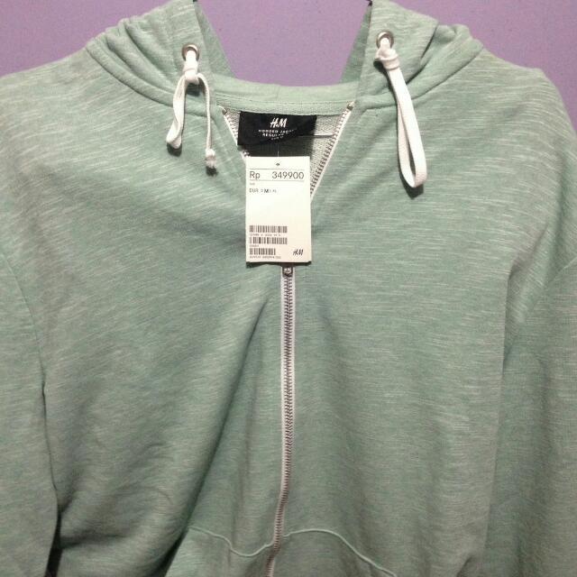 jaket h&m warna mint green