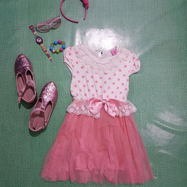 Kendra Peach Tulle Dress 3-6 yo