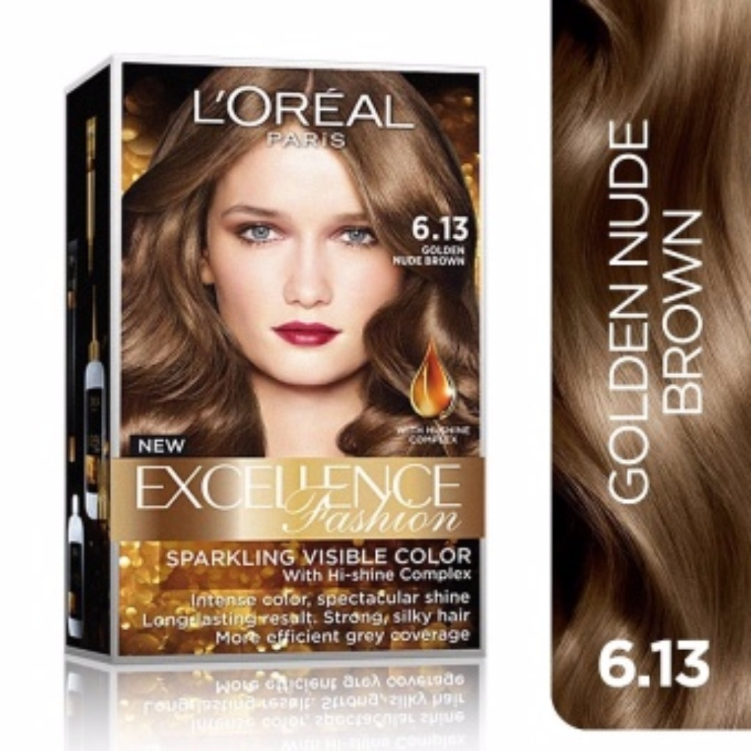L Oreal Paris Excellence Fashion 6 13 Golden Nude Brown