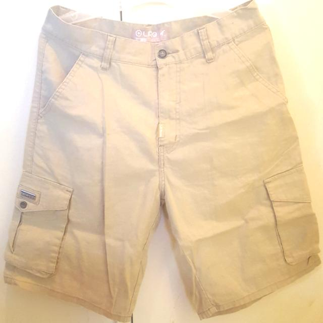 LRG Cargo Shorts for Men (Beige)