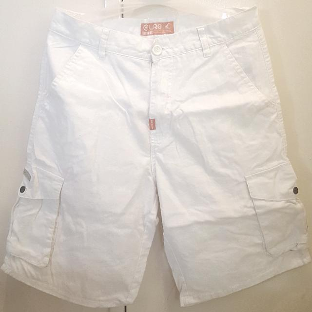 LRG Cargo Shorts for Men (White)
