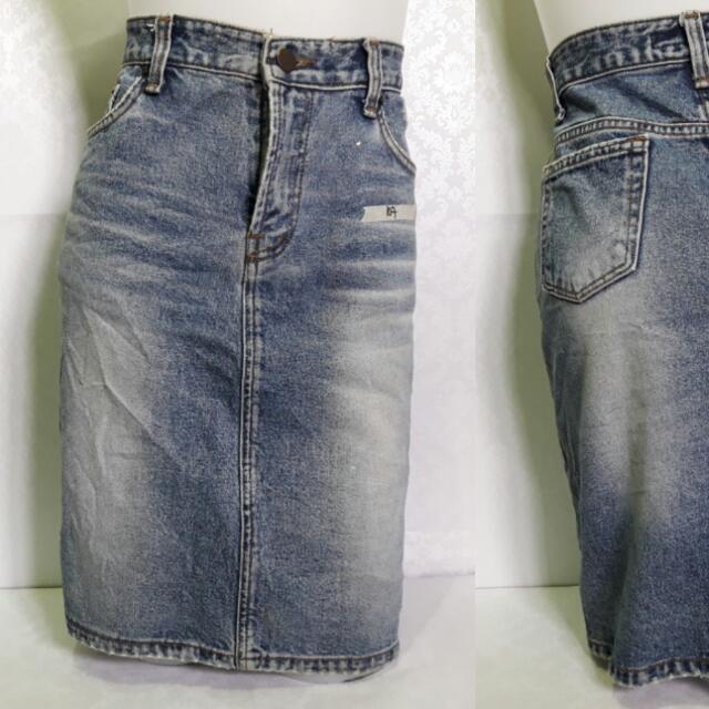 Midi Denim Skirt