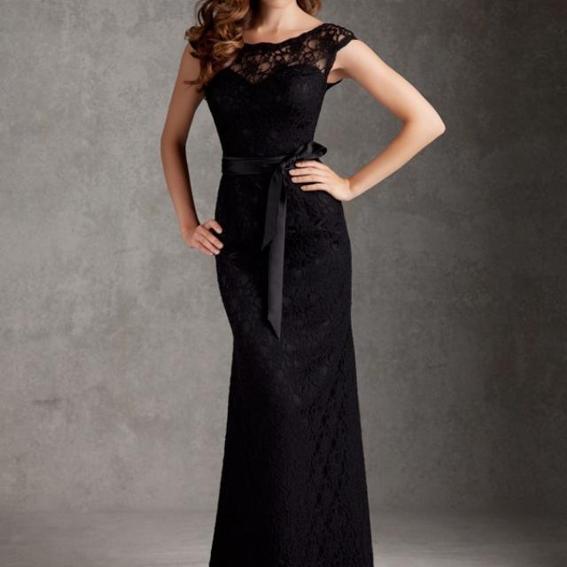 Mori Lee Black Bridesmaid Dress