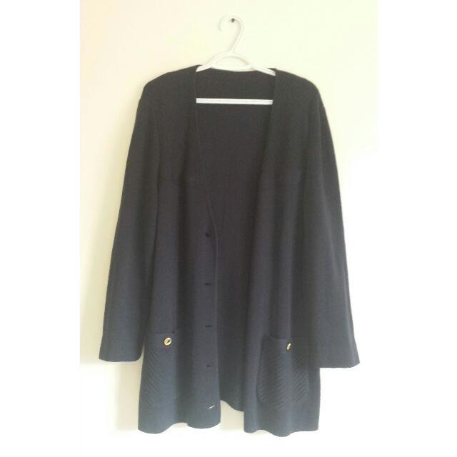Navy Blue Long Cardigan