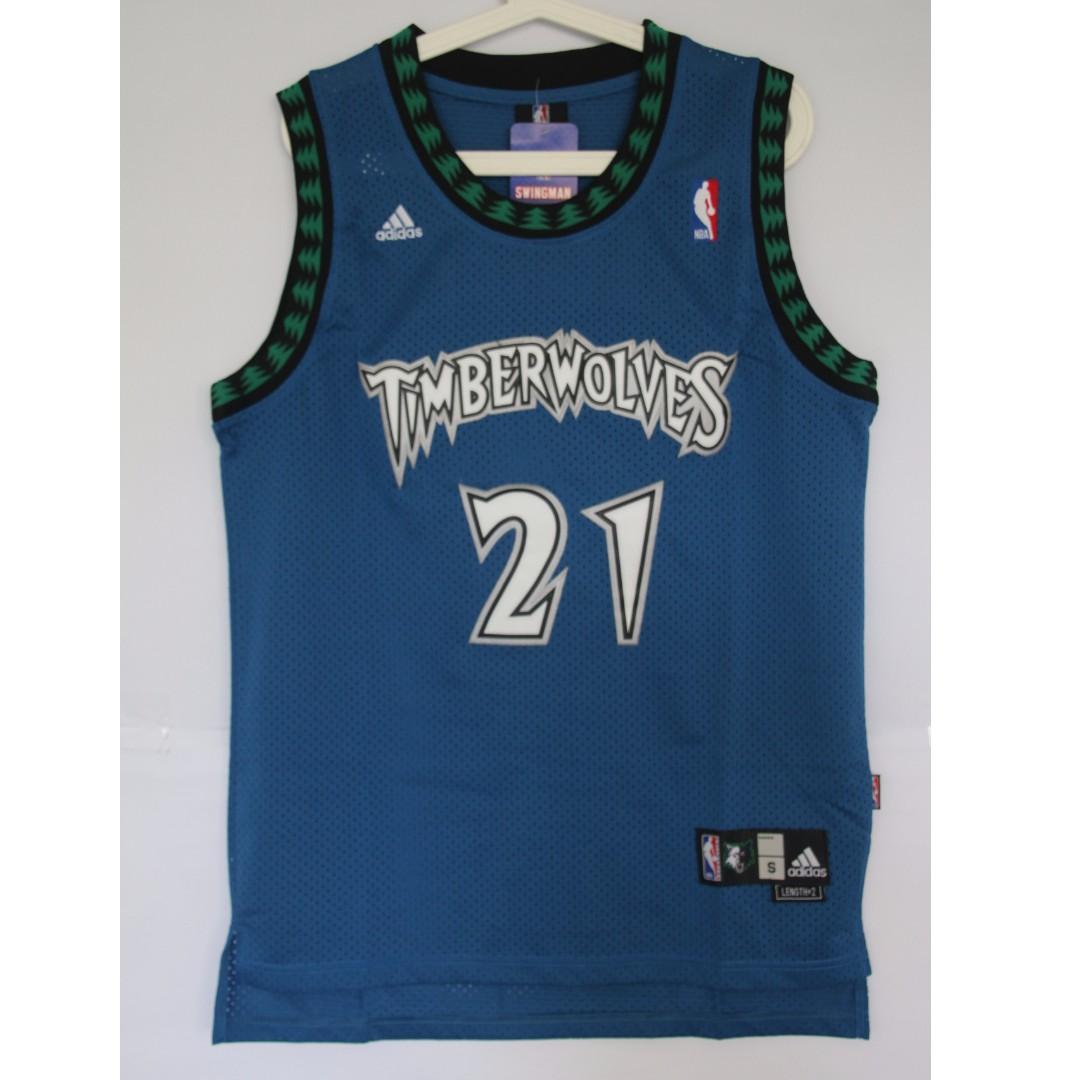 47d9e5b38ed NBA Swingman Jersey Kevin Garnett Minnesota Timberwolves #21 Retro Jersey,  Sports, Sports Apparel on Carousell