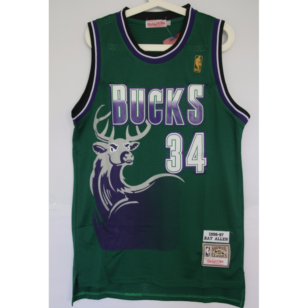 a1152402dc1 NBA Swingman Jersey Ray Allen Milwaukee Bucks  34 Retro Green Jersey ...