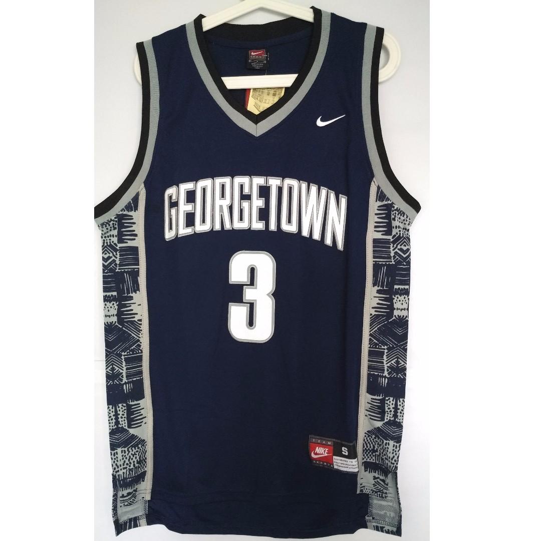 size 40 aeafa d4bee NCAA Swingman Jersey Allen Iverson Georgetown Hoyas #3 Blue ...