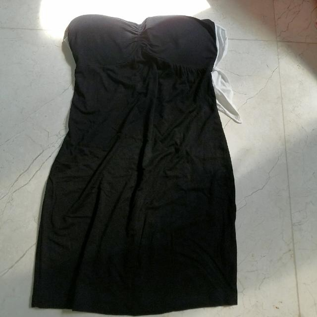 New Tube Top Long, With White Ribbon Free Size Up To Medium