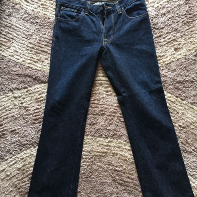 Nudie Jeans Slim Jim Dry Deep Indigo