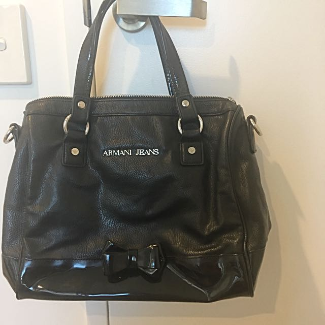 Original Armani jeans Bag Black medium