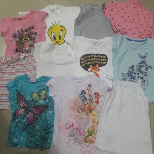 PRELOVED TOPS FOR GIRLS 5-6T