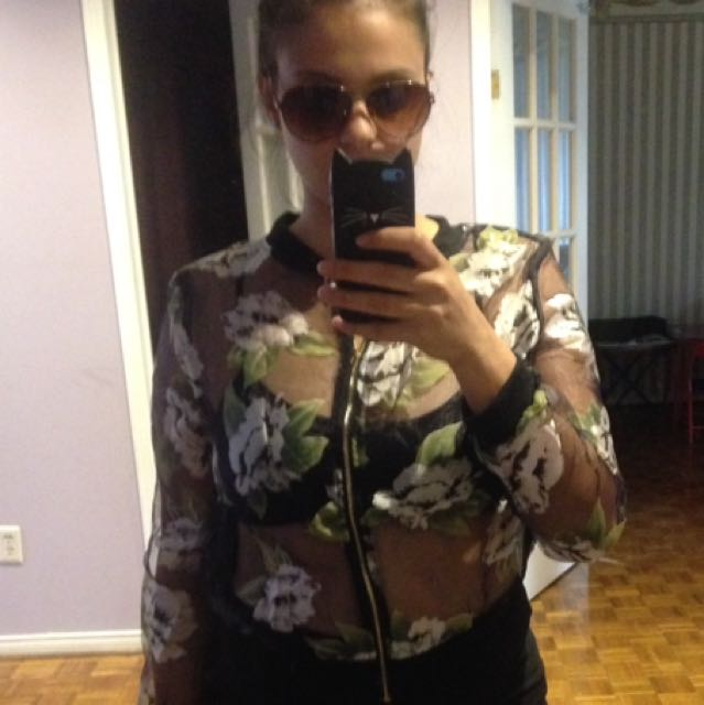 Really Cute Little Sheer Floral Jacket