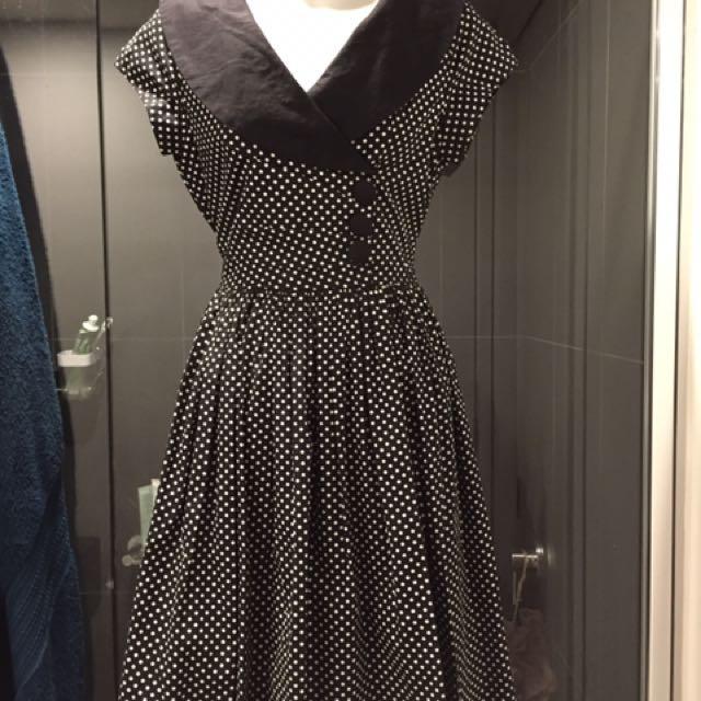 Retro Vintage Dangerfield Dress Size 8