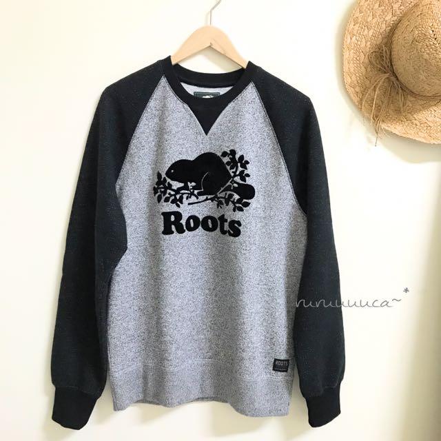 Roots 經典款拼接袖大學T 🇨🇦